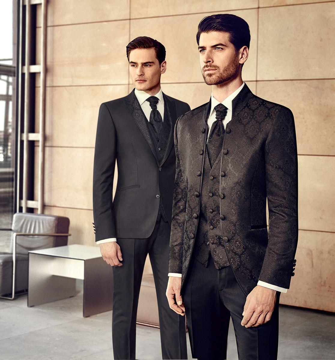 eleganckie garnitury ślubne