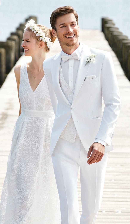 garnitur ślubny biały