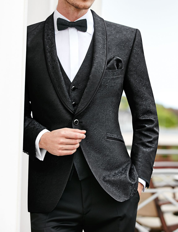 garnitur ślubny czarny