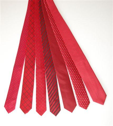 krawaty czerwone