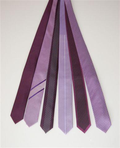 krawaty fioletowe