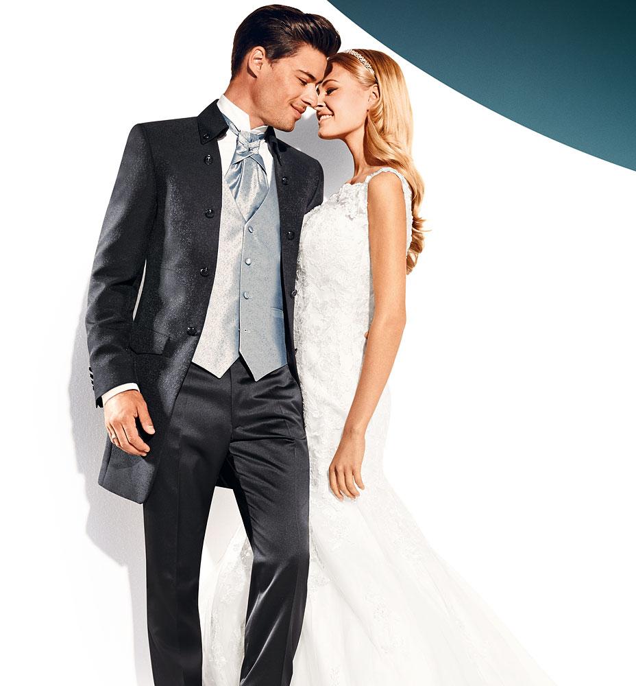 wydłużony garnitur ślubny
