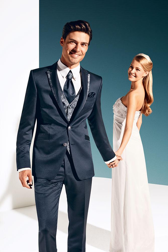 dopasowany garnitur ślubny